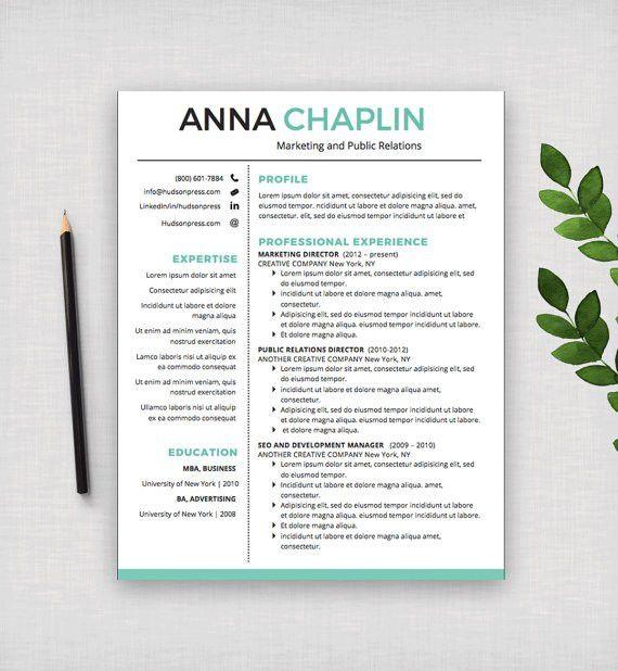 Resume Template   CV Template + Cover Letter   Letterhead ...
