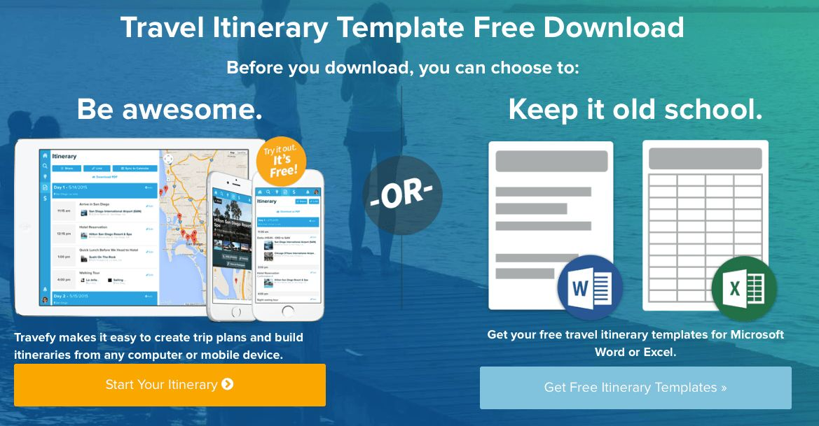 how to create a travel itinerary template