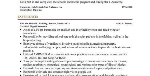Nurse Resume Sample Paramedic Resume Sample Resume Templates ...
