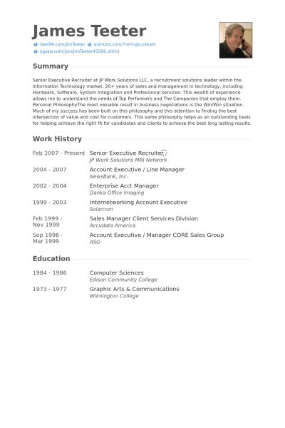 Executive Recruiter Resume samples - VisualCV resume samples database