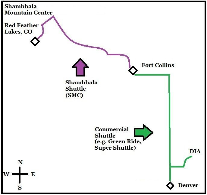 Travel Assistance - Shambhala Mountain Center