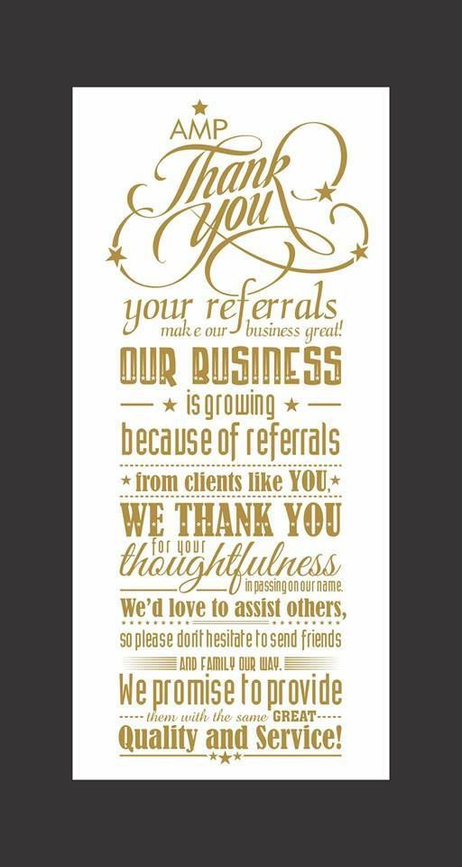 Thank You Card: Client Free Thank You For Your Referral Cards ...