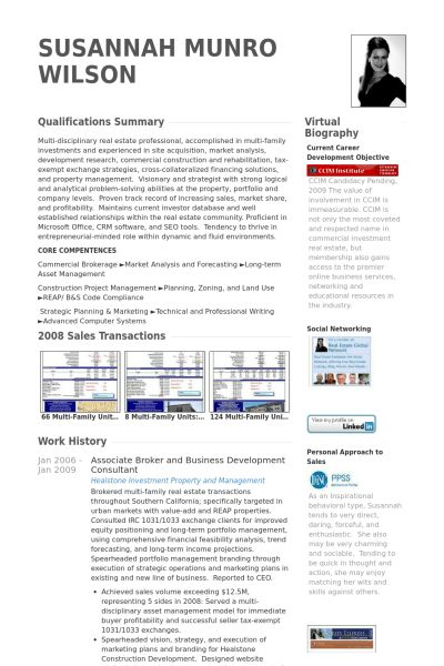 Broker Resume samples - VisualCV resume samples database