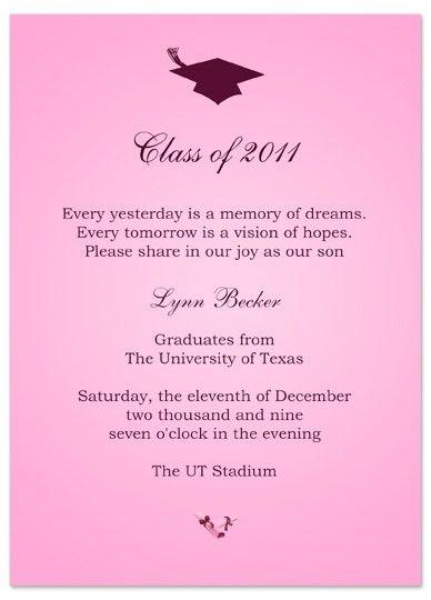 Download Ideas Graduation Invitation Announcement Pink Word ...
