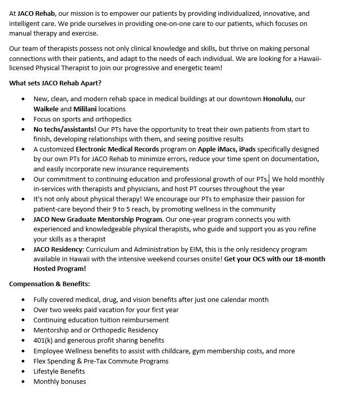 physical therapist cover letter. physical therapist please provide ...