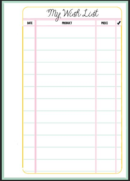 Filofax Wish List Printable | Filofax, Planners and Printing