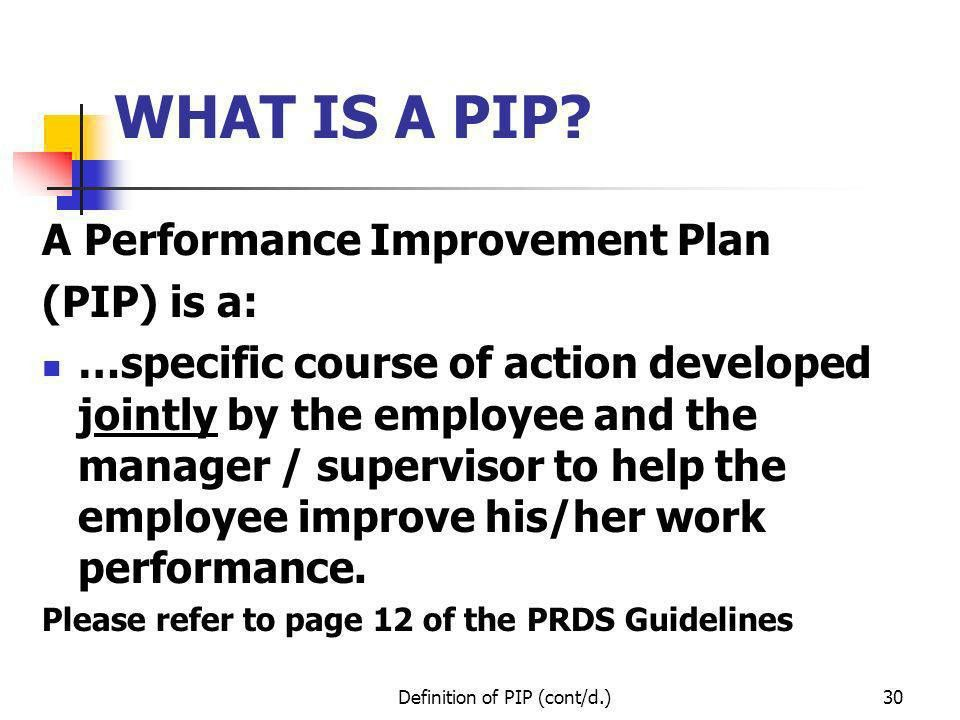 OVERVIEW OF THE PERFORMANCE REVIEW AND DEVELOPMENT SYSTEM (PRDS ...