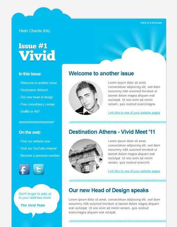 Newsletter Design Ideas Interior Design. Newsletter Styles A Guide To  Creating Email Newsletters