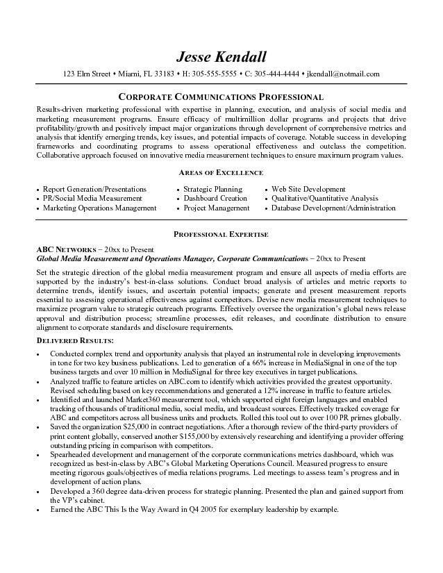 Click Here To Download This Marketing And Communications Resume ...