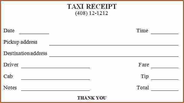 5+ taxi receipt generator | Printable Receipt