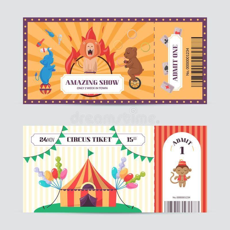 Circus Ticket Design Template. Stock Vector - Image: 89498722