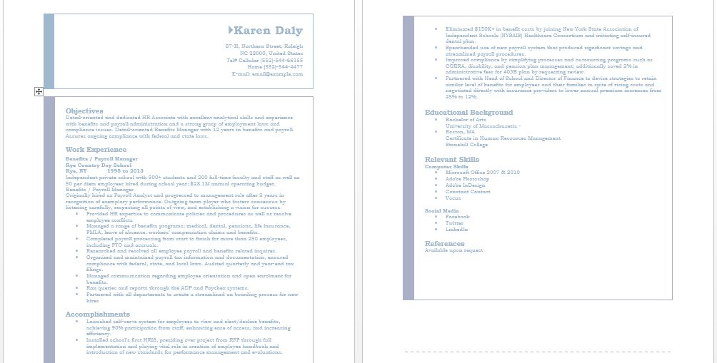 Manager Resume Format – Sample Resumes