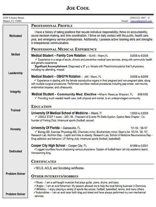 Med School Resume - cv01.billybullock.us
