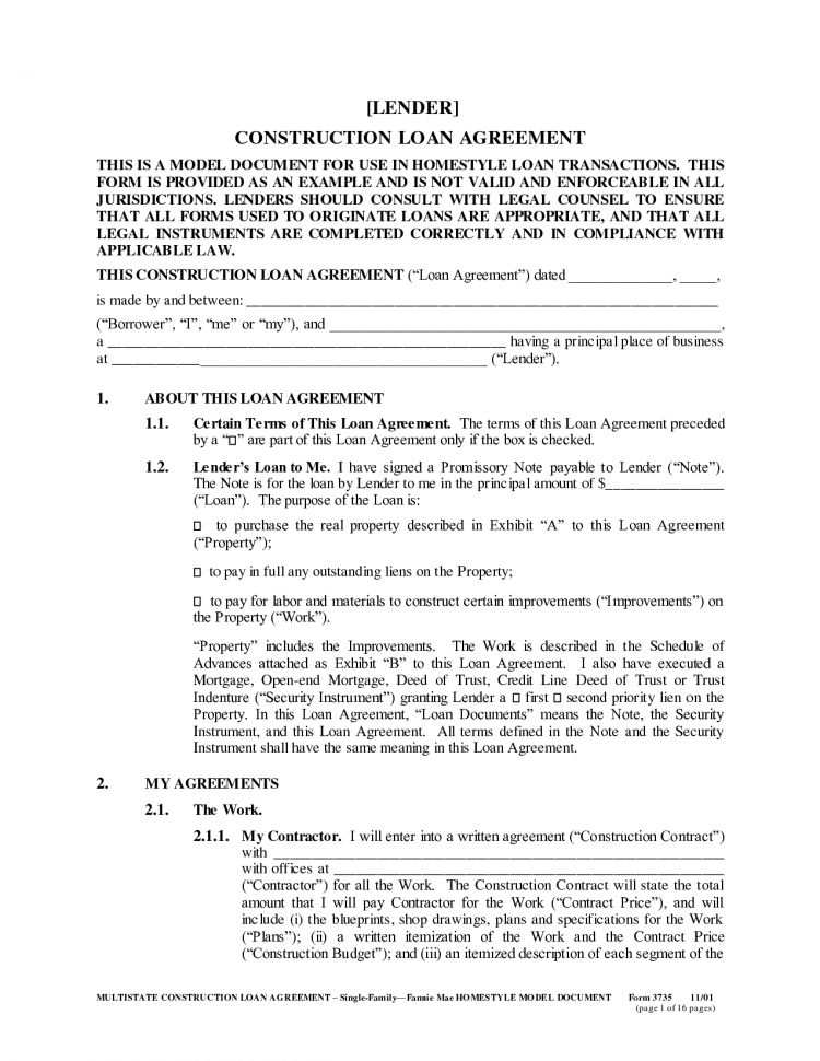 Loan Agreement Template Free Word Loan Agreement Template ...