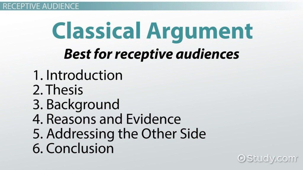 Writing for An Audience: How to Structure Your Argument - Video ...