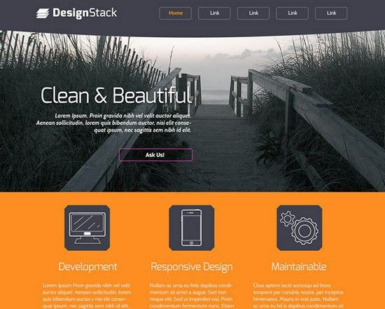 100+ Best Free PSD Website Templates of 2014 | NOUPE