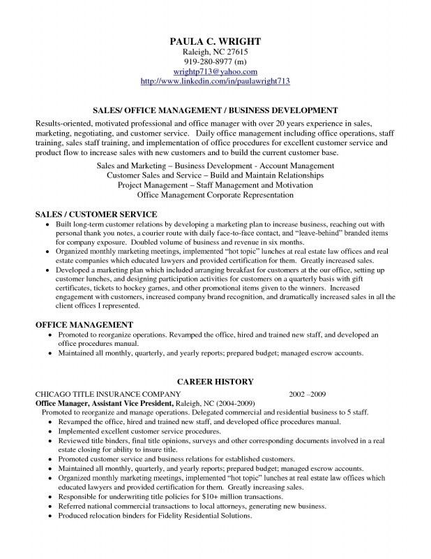 profile on a resume example business representative sample resume ...