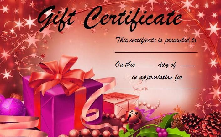 Gift Certificate Template - Word Excel Formats