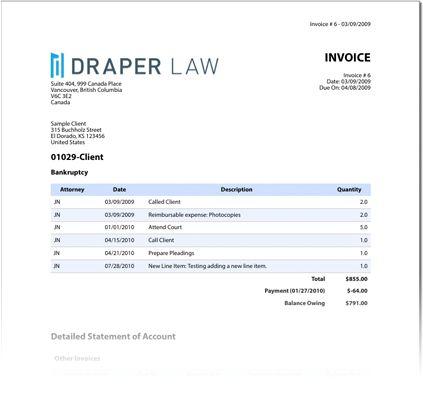 Download Sample Attorney Invoice | rabitah.net