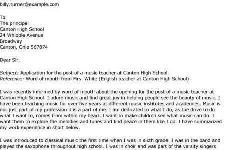 Teacher Cover Letter For Job Application - [imerbilgisayar.com]