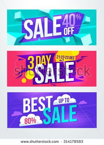 Sale Banners Design Stock Vector 436441954 - Shutterstock