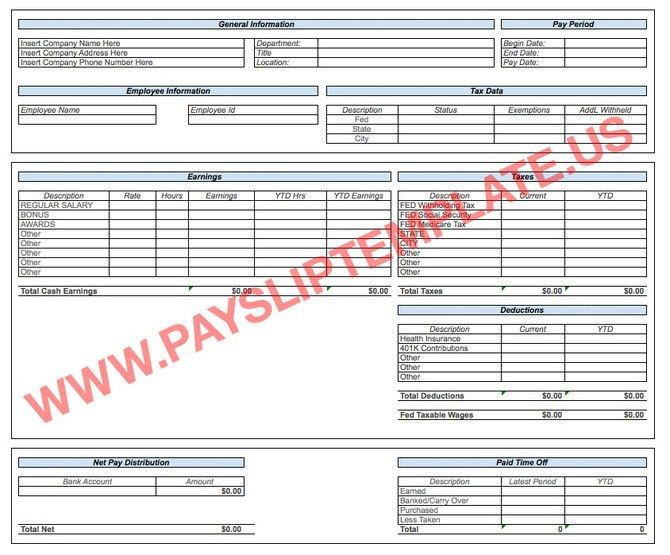 Excel Payslip Template
