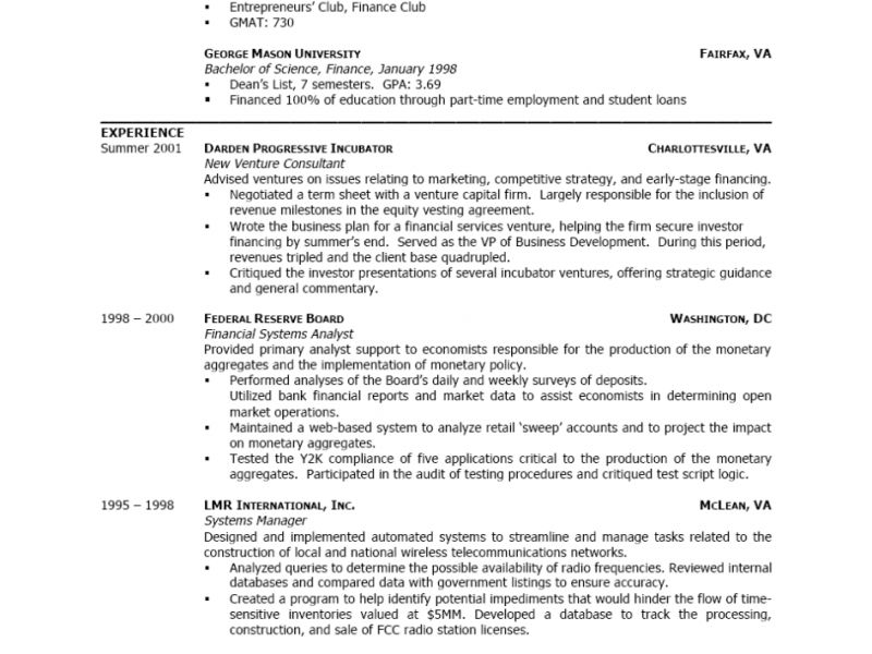 Marvellous Design Best Way To Write A Resume 1 Resumes Sample Mba ...