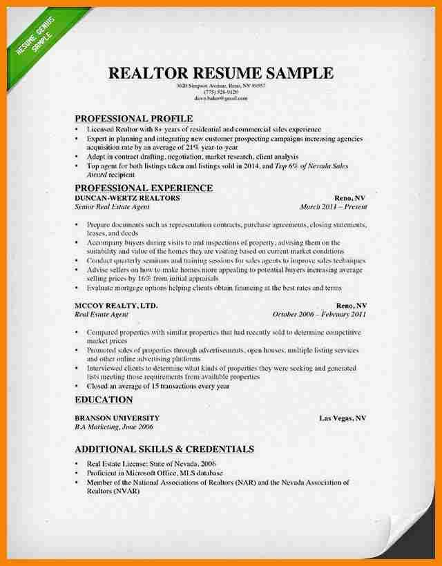 collection of solutions real estate agent sample resume also cover - Real Estate Resume Sample