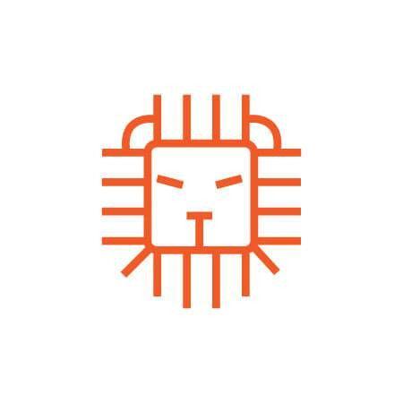 Lion Head Logo Template Design Vector