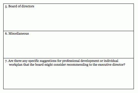 Executive Director Evaluation Survey Form | Blue Avocado