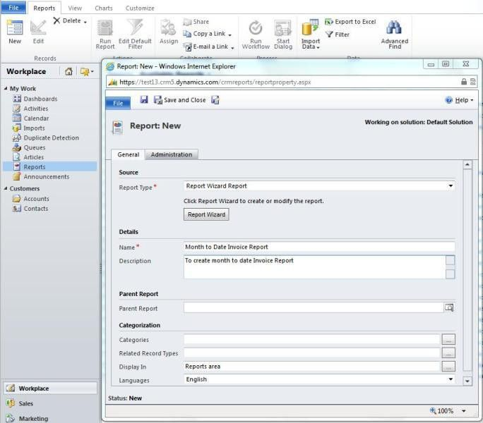 How to create Month to Date Invoice Report in Microsoft Dynamics ...