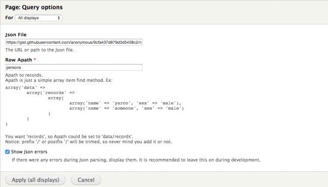 Show external JSON data in Drupal Views   Frontmag