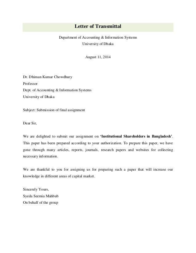 Institutional shareholders in bangladesh