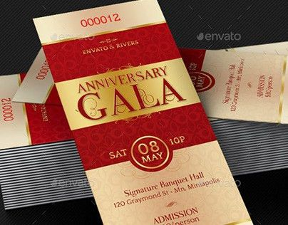 Dinner ticket template 6 dinner ticket tem6lates free psd ai elegant anniversary gala ticket template on behance pronofoot35fo Choice Image