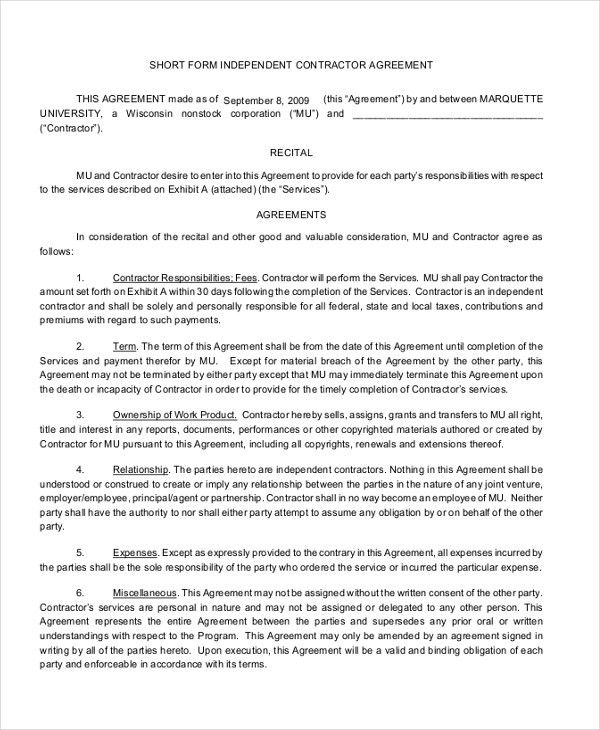 Contract Agreement Sample. Contract Agreement Template Jpg 11+ ...