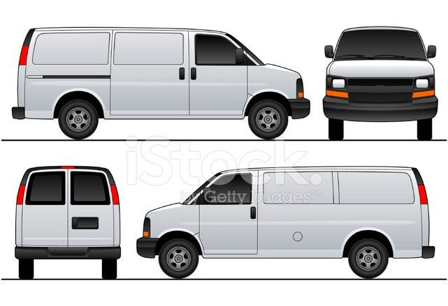 Chev Express / Savana Van 2007 Sliding Vector Template stock ...