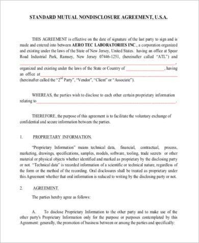 Mutual Business Agreement 106 [Template.billybullock.us ]