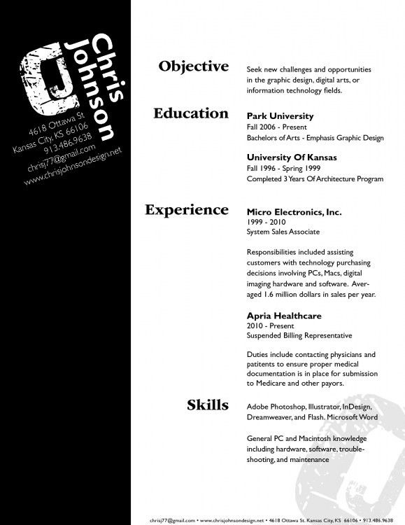 one call design professional resume design 4 professional resume ...