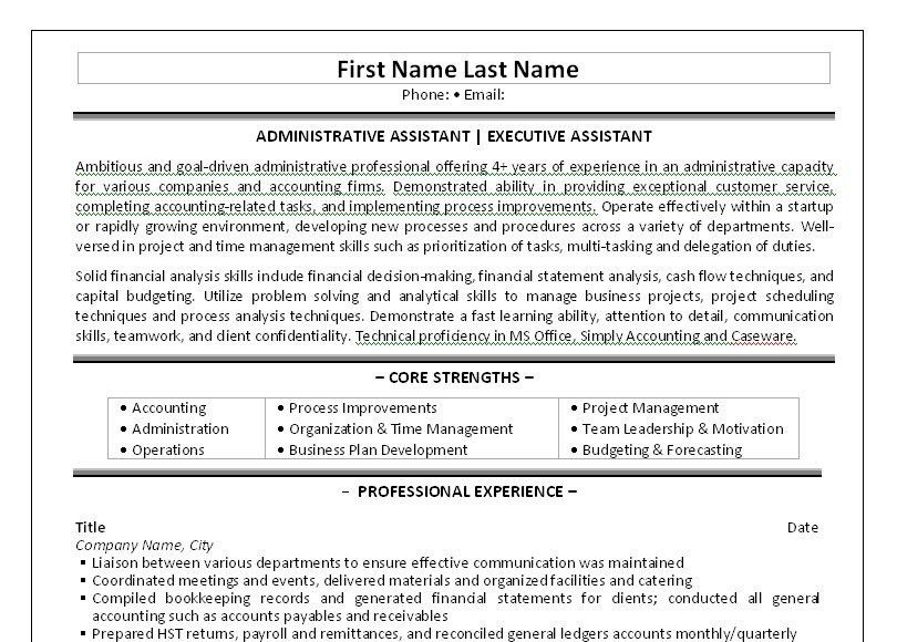 Click Here to Download this Administrative Assistant Resume ...