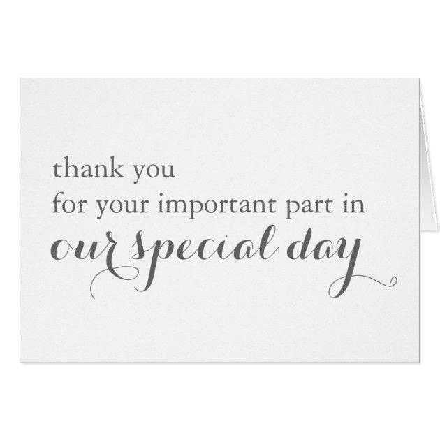 Wedding Day Vendor Thank You Card | Zazzle.com