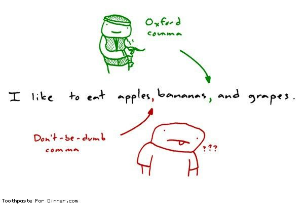 Oxford Comma | Titles are overrated | Pinterest