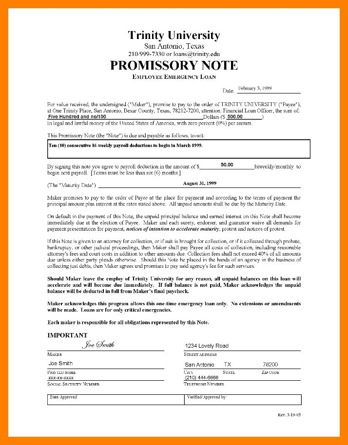 4+ sample promissory note | resume sections