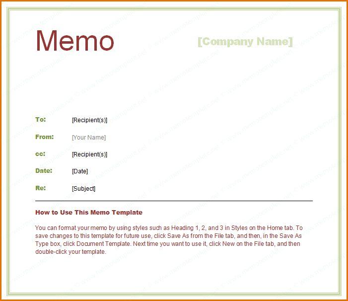 9+ interoffice memo template | Job Resumes Word