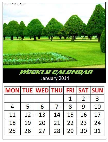 Microsoft Office TemplatesWeekly Calendar Template