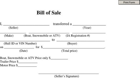 Boat Bill Of Sale Template {Word-PDF} Format – Excel Templates and ...