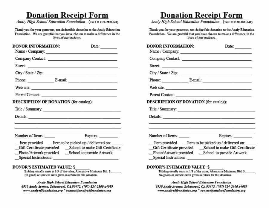 Donations Template. donation form donation form template ...