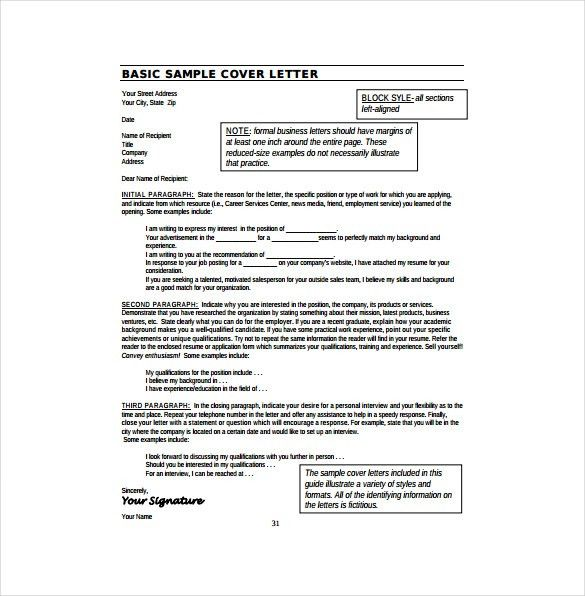 10+ Resume Cover Letter Templates – Free Sample, Example, Format ...