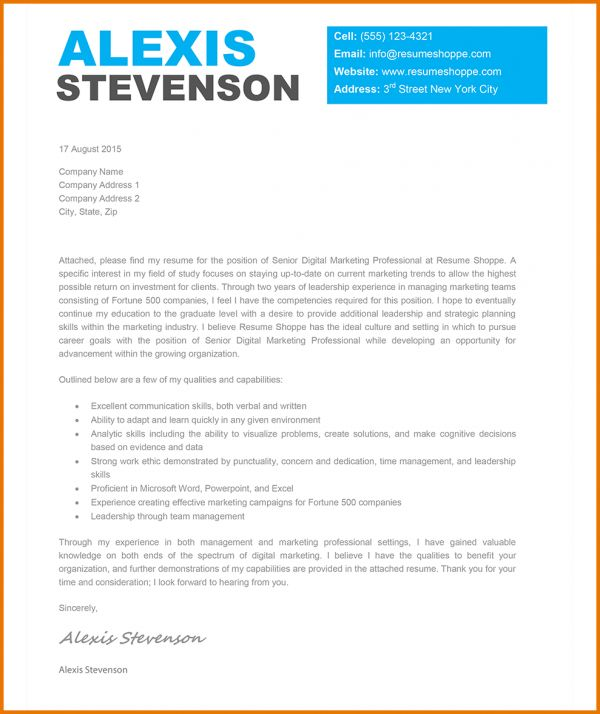Resume Cover Letter Templates.cover Letters Archives Creative ...