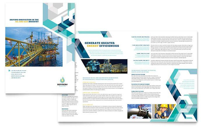 Oil & Gas Industry Brochure Template @StockLayouts | Brochure ...