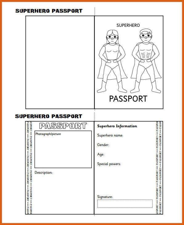 passport template for kids | apa examples